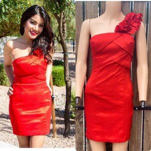 XXI Red One Shoulder Dress - Size 0
